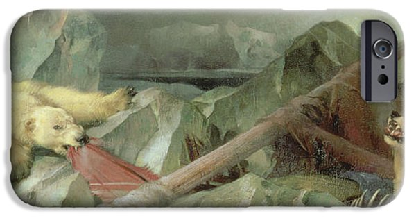 Polar Bear iPhone 6s Case - Man Proposes, God Disposes, 1864 by Sir Edwin Landseer