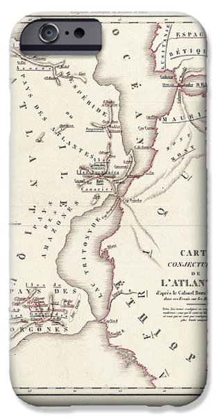 Map Of Atlantis IPhone 6s Case by Library Of Congress, Geography And Map Division