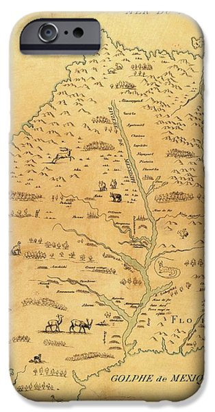 Marquette iPhone 6s Case - Map Of The Mississippi River by Library Of Congress, Geography And Map Division