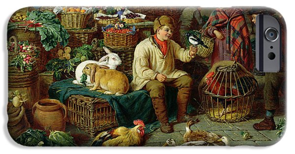 Magpies iPhone 6s Case - Market Scene by Henry Charles Bryant