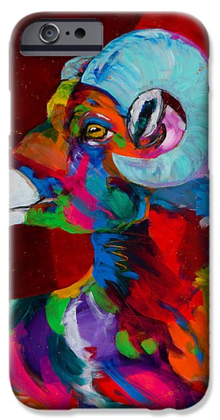 Rocky Mountain Bighorn Sheep iPhone 6s Case - Master Of The Mountain by Tracy Miller