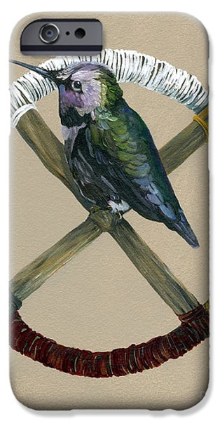 Hummingbird iPhone 6s Case - Medicine Wheel by J W Baker