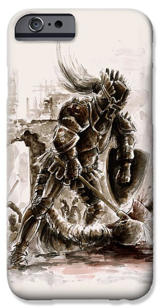 Dungeon iPhone 6s Case - Medieval Knight by Mariusz Szmerdt