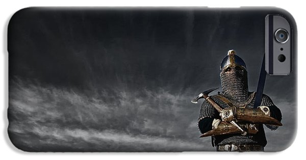 Medieval Knight With Sword And Axe IPhone 6s Case by Holly Martin