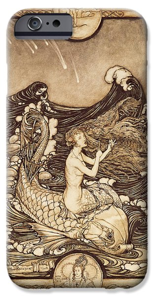 Mermaid And Dolphin From A Midsummer Nights Dream IPhone 6s Case by Arthur Rackham