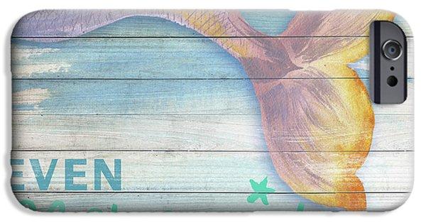 Mermaid iPhone 6s Case - Mermaid Bath II by Elizabeth Medley