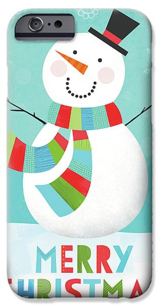 Merry Snowman IIi IPhone 6s Case by Lamai Mccartan