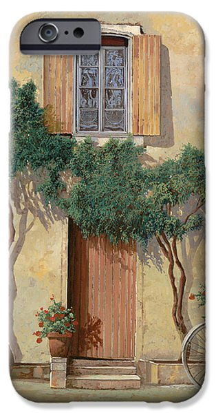 Bicycle iPhone 6s Case - Mezza Bicicletta Sul Muro by Guido Borelli