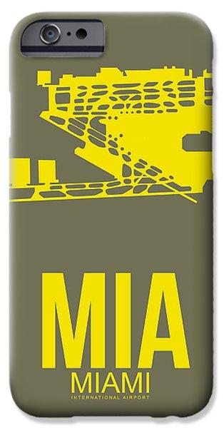 Miami iPhone 6s Case - Mia Miami Airport Poster 1 by Naxart Studio