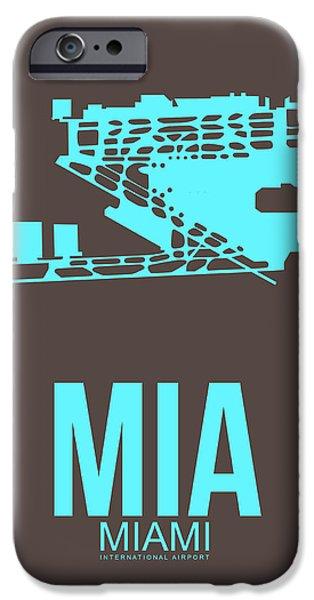 Mia Miami Airport Poster 2 IPhone 6s Case by Naxart Studio