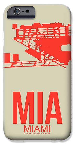 Miami iPhone 6s Case - Mia Miami Airport Poster 3 by Naxart Studio