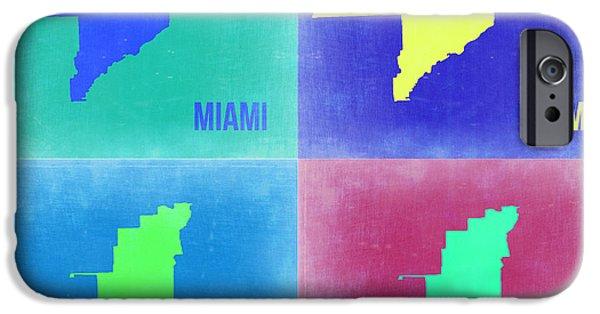 Miami iPhone 6s Case - Miami Pop Art Map 2 by Naxart Studio