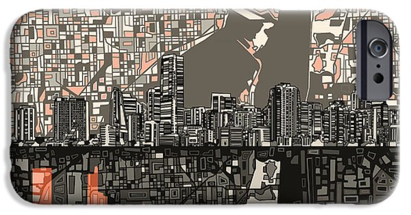 Miami Skyline Abstract 2 IPhone 6s Case