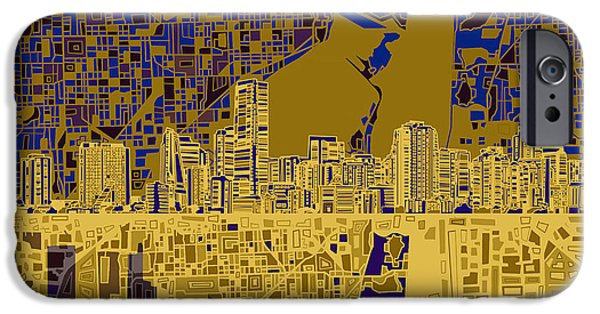 Miami Skyline Abstract 3 IPhone 6s Case