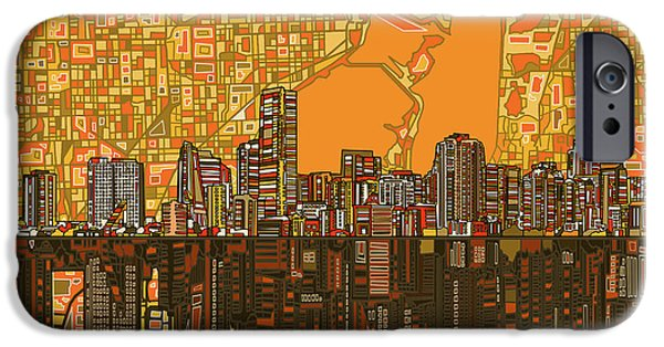 Miami Skyline Abstract 5 IPhone 6s Case