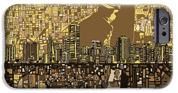 Miami Skyline Abstract 6 IPhone 6s Case