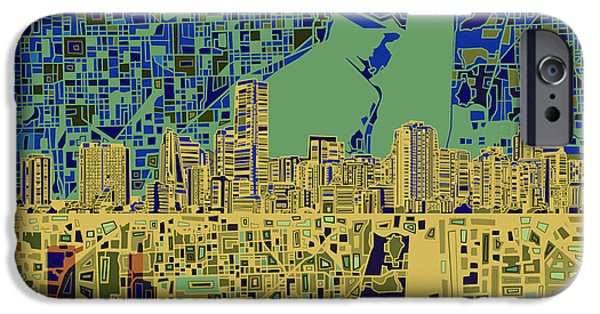Miami Skyline Abstract 7 IPhone 6s Case