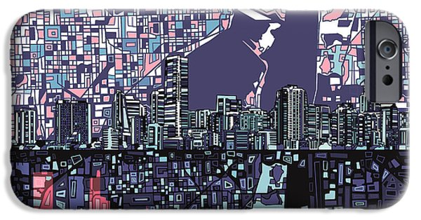 Miami Skyline Abstract IPhone 6s Case