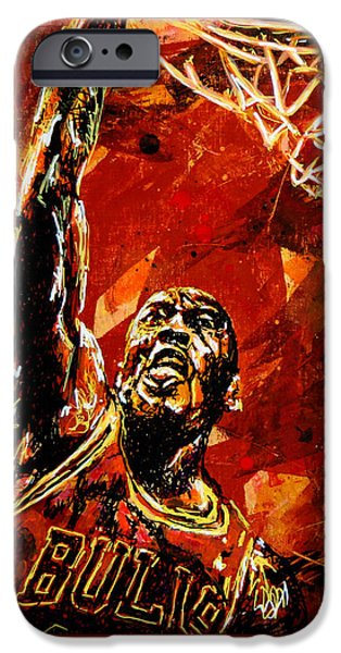 Michael Jordan IPhone 6s Case by Maria Arango