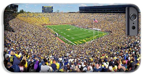 University Of Michigan iPhone 6s Case - Michigan Stadium - Wolverines by Georgia Fowler