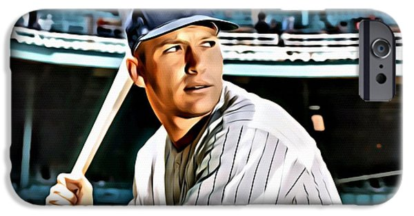 Mickey Mantle IPhone 6s Case by Florian Rodarte