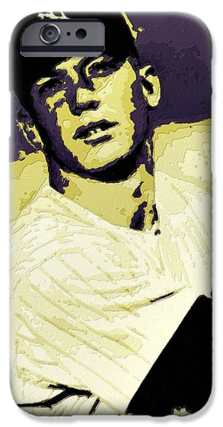 Mickey Mantle Poster Art IPhone 6s Case by Florian Rodarte