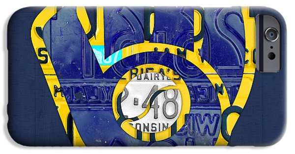 Milwaukee Brewers Vintage Baseball Team Logo Recycled Wisconsin License Plate Art IPhone 6s Case