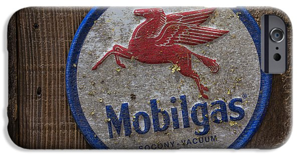 Pegasus iPhone 6s Case - Mobil Gas Sign by Garry Gay