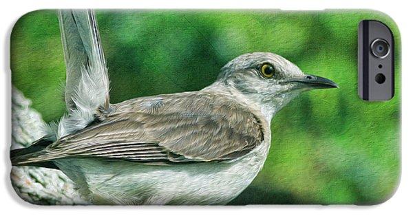 Mockingbird iPhone 6s Case - Mockingbird Pose by Deborah Benoit