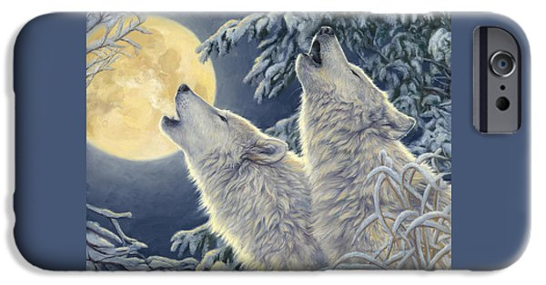 Wolf iPhone 6s Case - Moonlight by Lucie Bilodeau