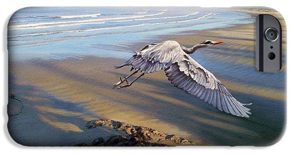 Heron iPhone 6s Case - Morning Fight-blue Heron by Paul Krapf