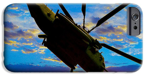 Helicopter iPhone 6s Case - Morning Maneuvers  by Jon Neidert