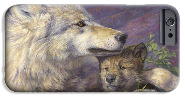 Wolf iPhone 6s Case - Mother's Love by Lucie Bilodeau