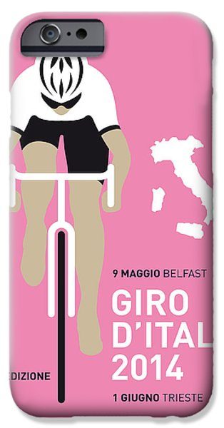Bicycle iPhone 6s Case - My Giro D Italia Minimal Poster 2014 by Chungkong Art