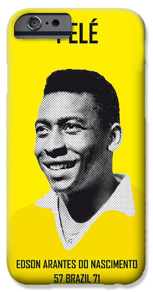 Barcelona iPhone 6s Case - My Pele Soccer Legend Poster by Chungkong Art