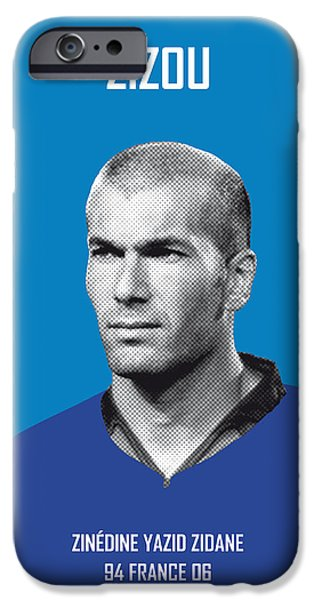 Barcelona iPhone 6s Case - My Zidane Soccer Legend Poster by Chungkong Art