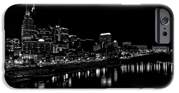 Nashville Skyline At Night In Black And White IPhone 6s Case by Dan Sproul
