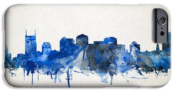 Nashville Skyline Watercolor 11 IPhone 6s Case