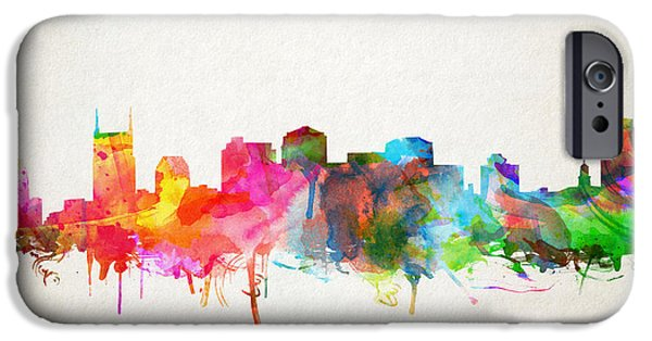 Nashville Skyline Watercolor 9 IPhone 6s Case