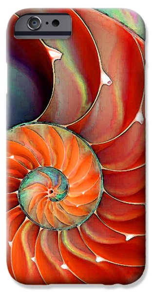 Largemouth Bass iPhone 6s Case - Nautilus Shell - Nature's Perfection by Sharon Cummings