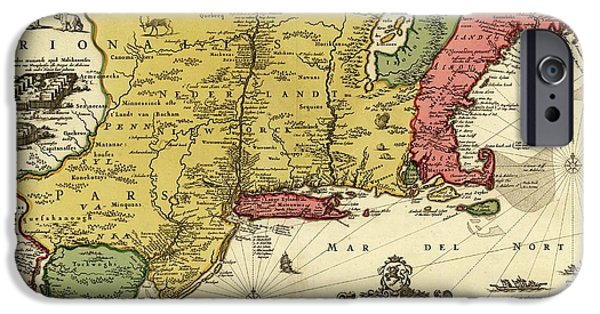 New England Coast iPhone 6s Case - New Netherland by Library Of Congress, Geography And Map Division/science Photo Library