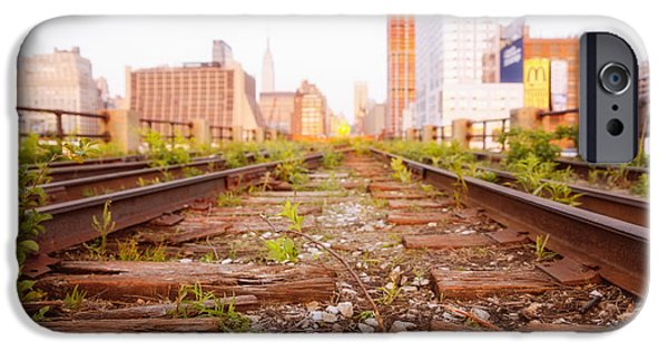 New York City - Abandoned Railroad Tracks IPhone Case by Vivienne Gucwa