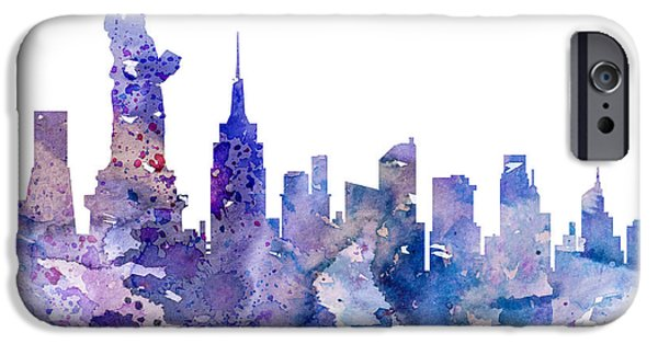 New York City iPhone 6s Case - New York by Watercolor Girl