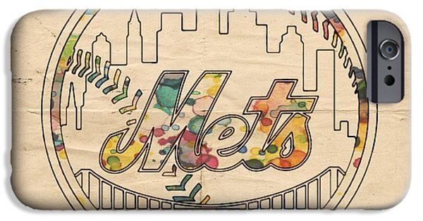 New York Mets iPhone 6s Case - New York Mets Poster Vintage by Florian Rodarte