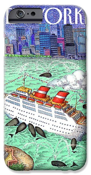 Cruise Ship iPhone 6s Case - New Yorker April 9th, 1990 by John O'Brien