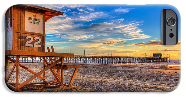 Swimming iPhone 6s Case - Newport Beach Pier - Wintertime  by Jim Carrell