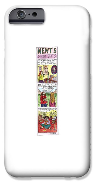 Newts iPhone 6s Case - Newt's Other Stats by Roz Chast