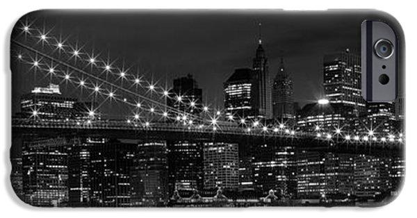 Night-skyline New York City Bw IPhone 6s Case by Melanie Viola
