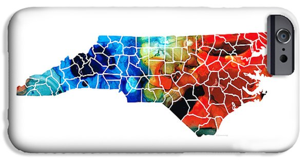 North Carolina - Colorful Wall Map By Sharon Cummings IPhone 6s Case