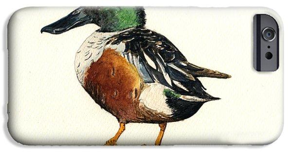 Duck iPhone 6s Case - Northern Shoveler by Juan  Bosco